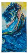 Sabrae's Transformation Tryptic I Beach Towel