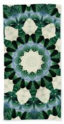 Sacramento Green And Cerulean Blue Mandala Beach Towel