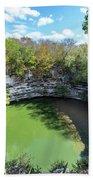 Sacred Cenote In Chichen Itza Beach Towel
