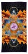 Sacred Geometry 701 Beach Towel
