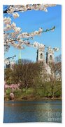 Sacred Heart And Branch Brook Cherry Blossoms  Beach Towel