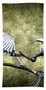 Sacred Ibis Photobombing Beach Towel