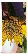 Sacred Sunflower Beach Towel
