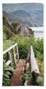 Saddle Trail Bridge Beach Towel