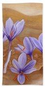 Saffron Flowers Beach Towel