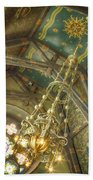 Sage Chapel Ceiling And Light Beach Towel