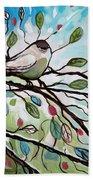 Sage Glimmering Songbird  Beach Towel