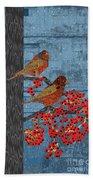 Sagebrush Sparrow Long Beach Towel