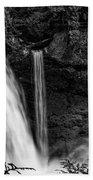 Sahalie Falls No. 4 Bw Beach Towel