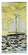 Sail And Sunrays Beach Towel by J R Seymour