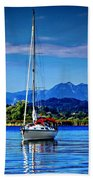 Sailboat Beach Towel