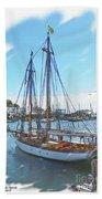 Sailboat Docked In Camden Beach Sheet