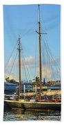 Sailboat, Mast, And Sails Beach Towel
