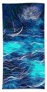 Sailboats In A Storm Beach Towel