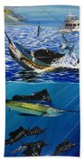 Sailfish In Costa Rica Beach Towel