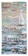 Sailing Away Beach Sheet