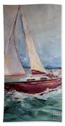 Sailing Away Beach Towel