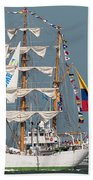 Sailing By The Battery Beach Towel