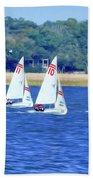 Sailing Charleston Harbor Beach Towel