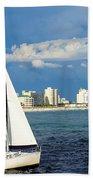Sailing Destin, Fl Beach Towel
