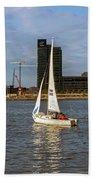 Sailing Downtown Beach Towel
