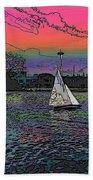 Sailing South Lake Union Beach Towel