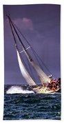 Sailing To Nantucket 001 Beach Towel