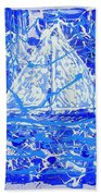 Sailing With Friends Beach Towel