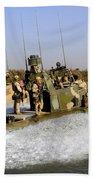 Sailors Racing Along The Euphrates Beach Towel