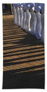 Sailors Stand At Parade Rest Beach Towel