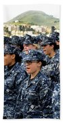 Sailors Yell Before An All-hands Call Beach Towel by Stocktrek Images