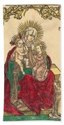 Saint Anne, The Madonna And Child, And A Franciscan Monk Beach Towel
