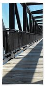 Saint Charles Walking Bridge Beach Towel