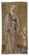 Saint Dorothy And The Infant Christ Beach Towel