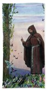 Saint Francis Of Assisi Preaching To The Birds Beach Towel