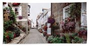 Saint Ives Street Scene, Cornwall Beach Towel
