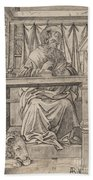 Saint Jerome In His Study Beach Towel