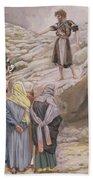 Saint John The Baptist And The Pharisees Beach Towel by Tissot