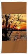 Saint Johns River Sunset  Beach Towel