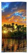 Saint Lucie River Sunset Beach Towel
