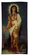 Saint Margaret Slaying The Dragon Beach Towel