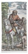 Saint Martin (c316-397) Beach Towel