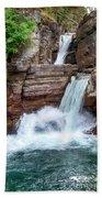 Saint Mary Falls - Glacier National Park Beach Towel