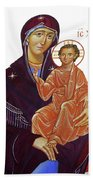 Saint Mary With Baby Jesus Beach Towel