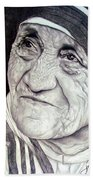 Mother Teresa Saint Of Calcutta  Beach Towel
