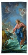 Saint Peter Invited To Walk On The Water Beach Towel
