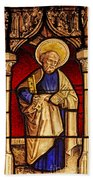 Saint Peter  Stained Glass Beach Towel