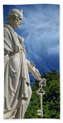 Saint Peter With Keys To Heaven Beach Towel