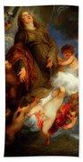 Saint Rosalie Interceding For The Plague Stricken Of Palermo     Beach Towel