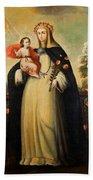 Saint Rose Of Lima With Child Jesus Beach Towel